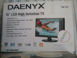 "15"" High Definition LCD TV"