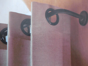 """NEW: RESTORATION HARDWARE """"HOTEL"""" IN-OUTDOOR RODS AND CLIP RINGS"""