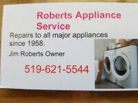 *ROBERTS APPLIANCE SERVICE* 519-621-5544