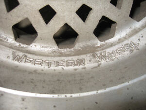 14X10 Aluminum Western wheels, 5X4.5, sell or trade London Ontario image 5