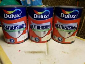 Dulux weathershield Masonary paint cornish cream