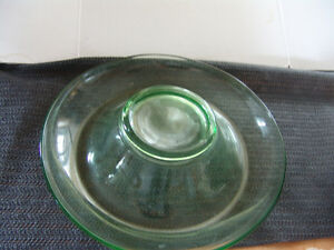 antique  serving plates 3 depression germany etched glass