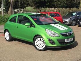 2011 Vauxhall Corsa 1.2i 16v ( 85ps ) ( a/c ) Excite 3 Door Green 73,267 Miles!!