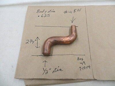 No. 4 Rw Taper Double Bend Spot Welder Copper Electrode Tip Cadi C-5312 New