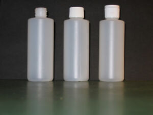 Polyethylene Cylinder Bottles 100ml with caps and Dispenser Caps