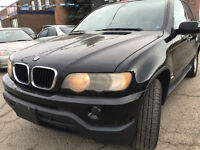 Parting 2001 BMW X5 SUV BLACK ALL PARTS