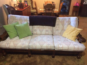 4 piece knotty pine couch set