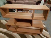 Oak finish shelf unit