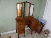 Antique Three-Mirrored Dresser / Vanity