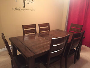 Kitchen Table Set Solid Wood Chairs