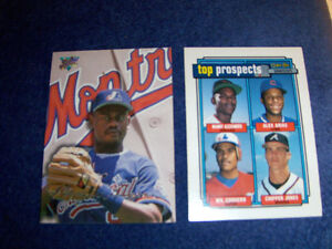 MARQUIS GRISSOM-CORDERO-2 VINTAGE EXPOS BASEBALL CARDS