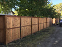 Fences starting at $34/ft and decks starting at $18/sqft