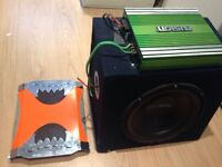 2000w legacy predator amp with fusion amp and Mac audio subwoofer