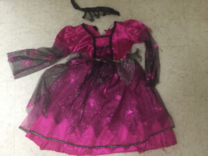 2 Dress up Girls Costume size 5-6 Witch/Gothic