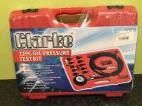 Clarke 12pc oil pressure testing kit