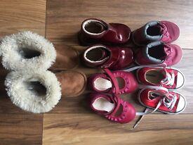 Size 4 bundle. Clarks, Timberland,Converse,Debenhams(like UGG).