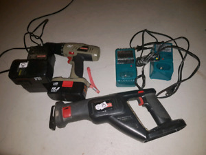 Drill saw and power packs