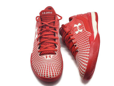 Under Armour Men's Clutchfit Drive Low Basketball Shoes 1261853-600 Red Size 8