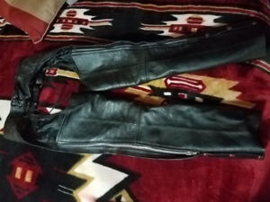 Womens xs genuine leather chaps