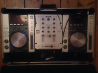 2 X Pioneer CDJ 200 Decks And Ministry Of Sound Mixer With Hard Case