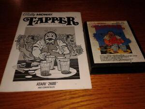 Atari 2600 Tapper with Manual