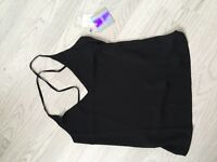 Backless cross over cami top