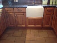 Kitchen units including solid granite worktops - available September