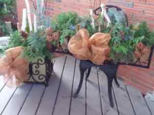 Wrought Iron Holiday Planters