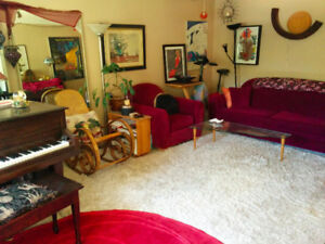 Furnished room in peaceful house