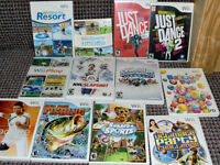 Wii games , fun - sports - training - U draw / 10 each