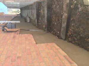 Chimney repair foundation parging crack repair. free quotes