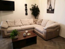Scs fabric corner sofa
