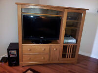 MUST GO Moving Sale: Solid Wood Entertainment Unit