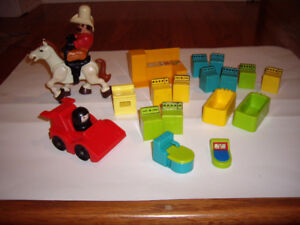 FISHER PRICE VINTAGE FURNITURE ACCESSORIES
