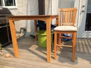 Fixer upper table and three chairs $40 OBO