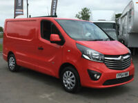 VAUXHALL VIVARO SPORTIVE L1H1 1.6CDTI 115BHP VAN IN RED. ONE OWNER. AIR CON.