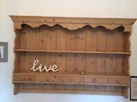 Pine wall unit
