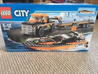Lego city speed boat with 4x4