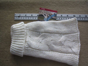 Dog Sweater, Cream colour with some gold threads-small