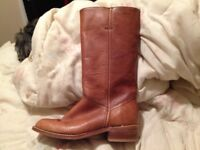 Woman's Beautiful Genuine Leather Riding Boots Size 7.5
