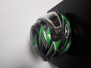 Casque de motoneige ou VTT avec visière chauffante Small