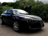 Alfa Romeo 159 1.9 black with red leather interior