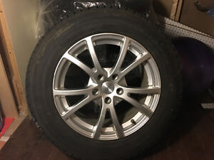 4 tires with rims(used 2 months)