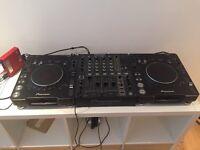 Pioneer CDJ 1000 mk3 (x2) and Pioneer DJM 700 Mixer