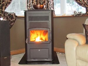 Drolet ECO 65 Pellet Stove + Complete Selkirk Insulated Chimney