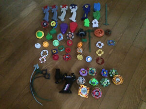 Beyblades and pieces