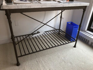 Marble Top Planting Table - Crate & Barrel