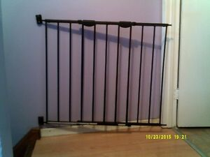 Strong black steel Northstate baby gate