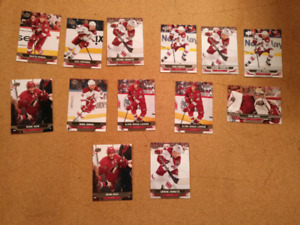 lot de cartes d'hockey Upper Deck 13-14 série 1&2