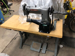 Consew cylinder arm sewing machine for leather vinyl canvas